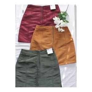 OLD NAVY velvet mini skirts!